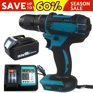 For Makita DHP483Z LXT Brushless Combi Drill Cordless Hammer with 5.5Ah Battery
