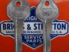 GENERAL MOTORS OEM Briggs & Stratton B10/B11 KEY BLANK SET Fits ALL GM 1936-66