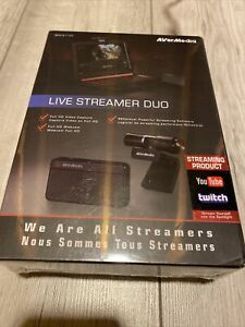 AVerMedia Live Streamer DUO, HD USB Capture/Streaming Card + Webcam, 1080p60