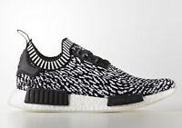 Adidas NMD R1 Primeknit Zebra BY3013 Black Black White Originals Mens