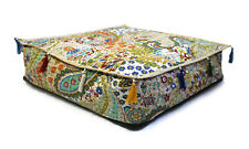 """New Paisley Print Kantha Square Floor Box Pillow Cushion Covers Indian 30x30x4"""""""