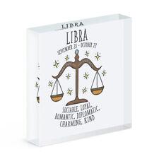 Balance Horoscope Acrylique Photo Bloc Cadre Signe Etoile Zodiaque Anniversaire