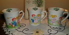 Vintage Cabbage Patch Kid 1984 Mugs Coffee Cups Three