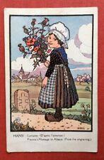 CPA. Illustrateur HANSI. 1916. Lorraine. Hommage. P.J.Gallais.