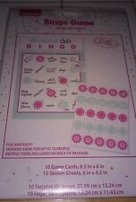 Bridal Shower Bingo New Sealed 10 game cards, 10 stickers Party Game Marriage