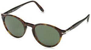 Persol Mens Sunglasses Tortoise/Green Acetate Non-Polarized 0PO3092SM 90153 50mm