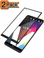 2 Pack For LG V20 Full Screen Coverage Tempered Glass Screen Protector
