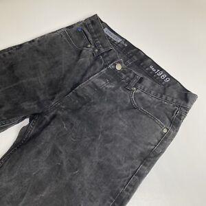 GAP Men's Straight Leg Black Washed Finish Denim Jeans - W32 x L30