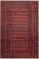 "Hand-knotted Afghan Carpet 5'11"" x 9'2"" Teimani Traditional Wool Rug"