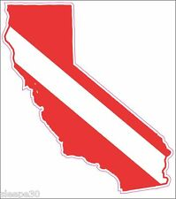 California Dive Sticker Diver Down Dive Flag Sticker Decal