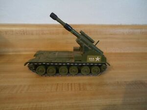 """Dinky Toys 155mm Mobile Gun U.S.A. 2486598 Military Vehicle Die Cast 6"""""""