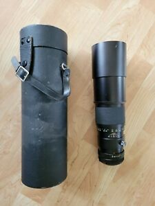 TELE VIVITAR 1:5.6 f=400mm Telephoto Camera Lens - Made in Japan with case
