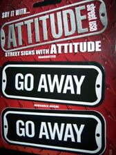 STREET SIGNS DECAL MAGNET GO AWAY STICKER LEAVE GO BUY