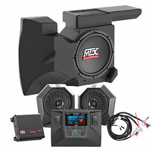 2014-18 Polaris RZR XP1000/900 Speakers+Pods+Amp+Receiver+Dash Kit+Powered Sub