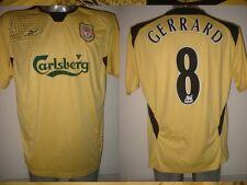 """Liverpool Reebok Gerrard Para Hombre Xl 46 """"away Camiseta Jersey Soccer Fútbol de Inglaterra y"""
