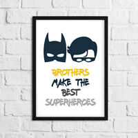 Boys Bedroom Prints For Brothers - BATMAN PICTURES Home Decor / Superhero Robin