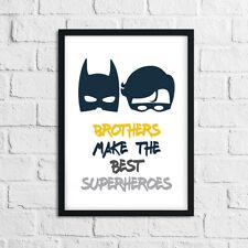 Boys Bedroom Prints For Brothers - BATMAN PICTURES Home Decor / Superhero Robin