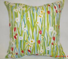"4 X PRESTIGIOUS TEXTILES CUSHIONS COVERS. DESIGN IS ""SPRING DAISY"" 100%COT. 16"""