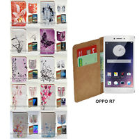For OPPO Series Butterflies Vector Theme Print Wallet Mobile Phone Case Cover #1