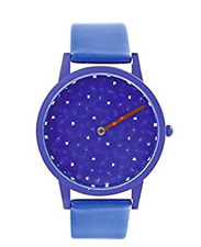 Kikkerland Presto Leather Wrist Watch NIB Blue Milton Glaser design FREE SHIP