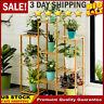 4 Tier Bamboo Flower Stands Plant Display Pot Holder Storage Rack Bathroom Decor