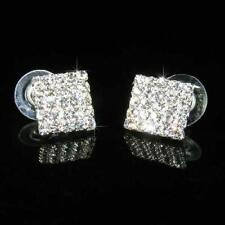 Unbranded Snap Closure Silver Plated Stud Costume Earrings