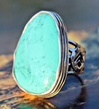 """Silpada~""""Tumbled Turquoise"""" Sterling Silver & Turquois Statement Ring Sz.7~R2017"""