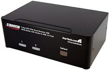 StarTech.com 2-Port DVI VGA Dual Monitor KVM Switch USB with Audio and USB 2.0