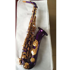 New Professional Purple Gold C Melody sax saxophone High F# +2 Necks +Case
