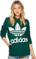 adidas Originals Women's Trefoil Hoodie Collegiate Green CE2412 XS S M L XL