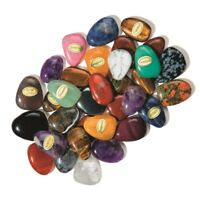 Piedra Preciosa Ámbar en tambor GOTAS También Con Mapa & Pulsera de cuero /