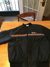 FedEx Stan Herman Jacket Navy Blue Insulated Reflective Strips See Descripion