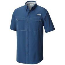 Columbia PFG Mens Low Drag Offshore Night Tide Vented Short Sleeve Shirt Sz S