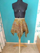 Green Fairy Skirt Costume Renaissance Fair Dress Fantasy Handmade Halloween