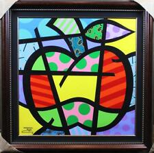 """""""GREEN APPLE II"""" BY JOZZA - FRAMED ORIGINAL ACRYLIC PAINTING ON CANVAS! PERFECT"""