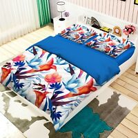 3D Flower Leaf 179 Bed Pillowcases Quilt Duvet Cover Set Single Queen King AU