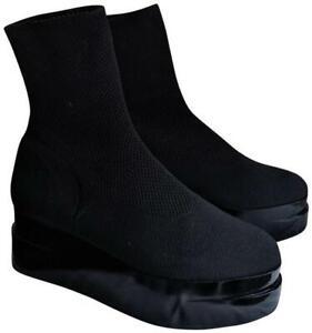 "ROBERT CLERGERIE ""Luise"" Platform Sock Boots Sz. 39.5/9 $498 NWOB"