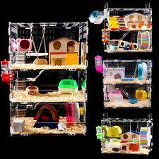 Stroy Hamster Cage Castle Mouse Rabbit Habitat Playpen Pet Supplier 1 Layer L