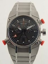 SECTOR MARATHON 42195 CHRONO ALARM BLACK DIAL WATCH - RETAIL VALUE $560+