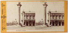 Naya, Italy, Venice Piazzetta, Photo Stereo Vintage Albumin