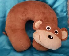 Travel Pillow Brown Monkey Toddler Baby Neck Plush Support Car Seat Kid Medium