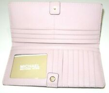 Michael Kors Jet Set Travel Medium Flat Slim Bifold Leather Wallet Blossom Pink