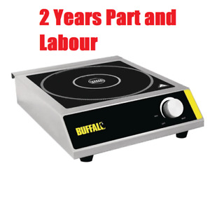 Buffalo Commercial Restaurant Electric Induction Hob 100X330X430mm Hot Plate 3KW