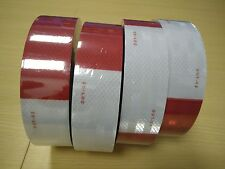 AAA 30' Foot Roll DOT C2 REFLECTIVE CONSPICUITY BUY TAPE RED WHITE FREE SHIPPING
