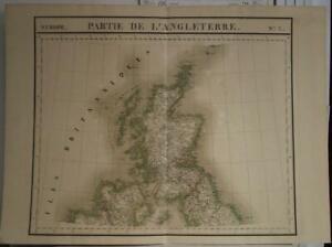 SCOTLAND & NORTHERN IRELAND (ULSTER) 1827 VANDERMAELEN ANTIQUE LITHOGRAPHIC MAP