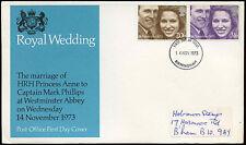 GB FDC 1973 Royal Wedding, Birmingham FDI #C19409