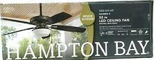 "Hampton Bay 52"" Ceiling Fan Gazebo II Indoor/Outdoor LED Light Kit Natural Iron"