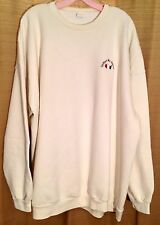 Womens USA Patriotic UNITED WE STAND Size 4XL TALL White Pullover SWEATSHIRT