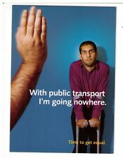 Postcard: Public Transport - Time to get Equal - Scope Charity Card