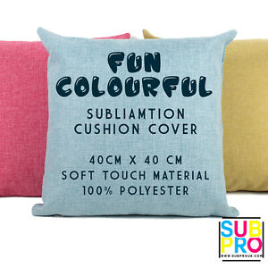 Sublimation Cushion Cover Blank Pillowcase Transfer Heat Press 100% Polyester